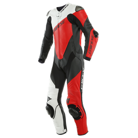 IMOLA 1PC LEATHER SUIT PERF. BLACK/WHITE/LAVA-RED
