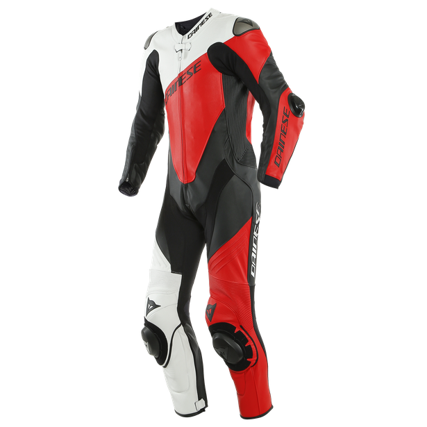 IMOLA 1PC LEATHER SUIT PERF. BLACK/WHITE/LAVA-RED- Leather Suits