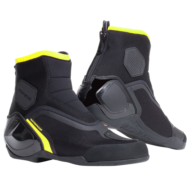 DINAMICA D-WP SHOES BLACK/FLUO-YELLOW- Moto