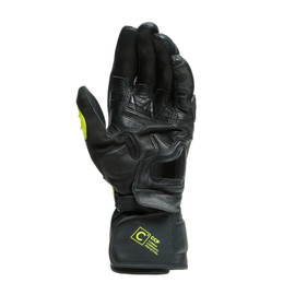 CARBON 3 LONG GLOVES BLACK/FLUO-YELLOW/WHITE- Leder