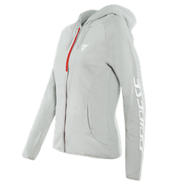 PADDOCK LADY FULL-ZIP HOODIE  GLACIER-GRAY/WHITE