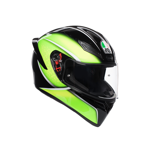K1 MULTI ECE2205 - QUALIFY BLACK/LIME - Full-face