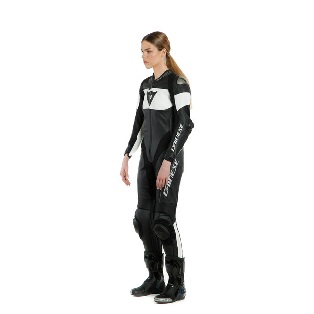 IMATRA LADY LEATHER 1PC SUIT PERF. BLACK/WHITE- Women