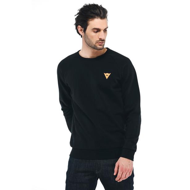 VERTICAL SWEATSHIRT BLACK/ORANGE- Sweatshirts