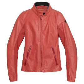 DJANET LADY LEATHER JACKET POMPEIAN-RED- Dunes