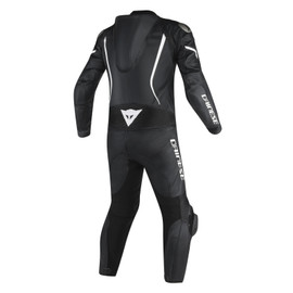 ASSEN 1 PC. PERF. SUIT BLACK/BLACK/WHITE- Lederkombi