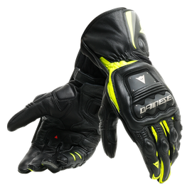 STEEL-PRO GLOVES BLACK/FLUO-YELLOW- Pelle