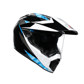 AX9 MULTI E2205 - NORTH BLACK/WHITE/CYAN - Full-face