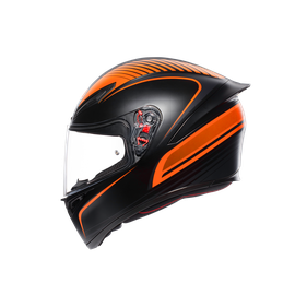 K1 MULTI ECE2205 - WARMUP MATT BLACK/ORANGE - K1