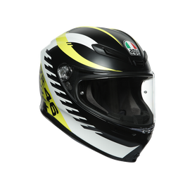 K6 E2205 TOP - RAPID 46 MATT BLACK/WH/YELLOW