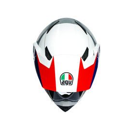 AX9 MULTI ECE DOT - ATLANTE WHITE/BLUE/RED - Full-face Touring