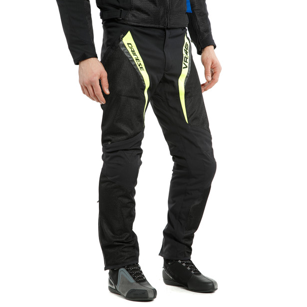 VR46 GRID AIR TEX PANTS BLACK/FLUO-YELLOW- undefined