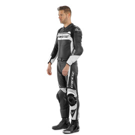 MISTEL 2PCS LEATHER SUIT BLACK-MATT/WHITE/BLACK-MATT- Leather Suits