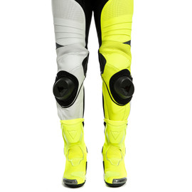 ADRIA 1PC LEATHER SUIT PERF. WHITE/FLUO-YELLOW/ANTHRACITE- Lederkombi