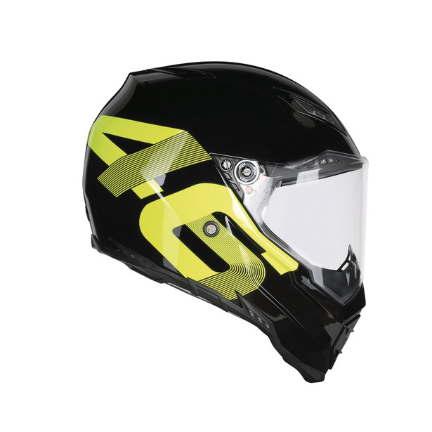 AX-8 EVO NAKED E2205 TOP - IDENTITY BLACK/YELLOW - Full-face
