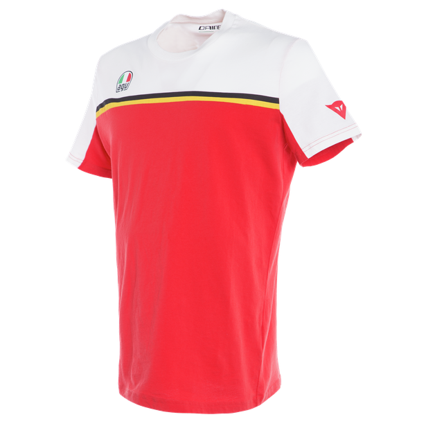 FAST-7 T-SHIRT WHITE/RED- Casual
