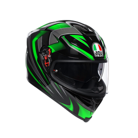 K-5 S MULTI ECE DOT - HURRICANE 2.0 BLACK/GREEN