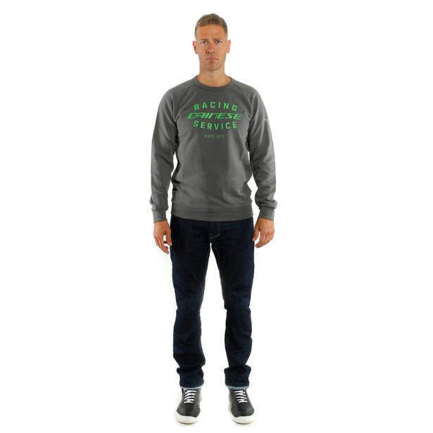 PADDOCK SWEATSHIRT CHARCOAL-GRAY/GREEN- Casual Wear