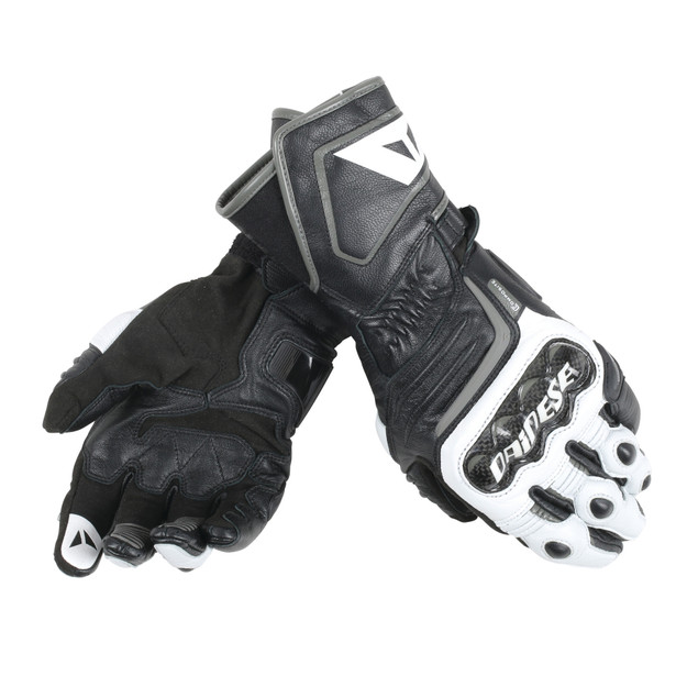 CARBON D1 LONG GLOVES BLACK/WHITE/ANTHRACITE- Cuir