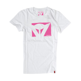 T-SHIRT COLOR NEW LADY WHITE/FUCHSIA- Casual Wear