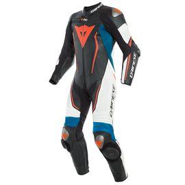 MISANO 2 D-AIR PERF. 1PC SUIT BLACK-MATT/WHITE/LIGHT-BLUE- One Piece Suits