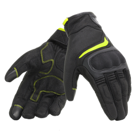 AIR MASTER GLOVES BLACK/FLUO-YELLOW- Tissus