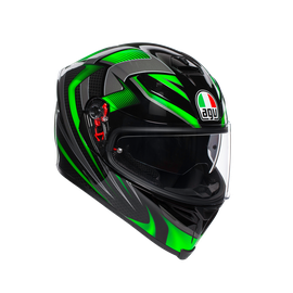 K5 S MULTI ECE DOT - HURRICANE 2.0 BLACK/GREEN