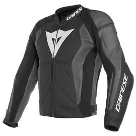 NEXUS LEATHER JACKET PERF. BLACK/BLACK/EBONY- Jacken