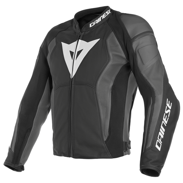 NEXUS LEATHER JACKET PERF. BLACK/BLACK/EBONY- Chaquetas