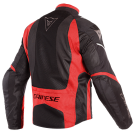 SAURIS D-DRY JACKET BLACK/TOUR-RED/LIGHT-GRAY- Jacken