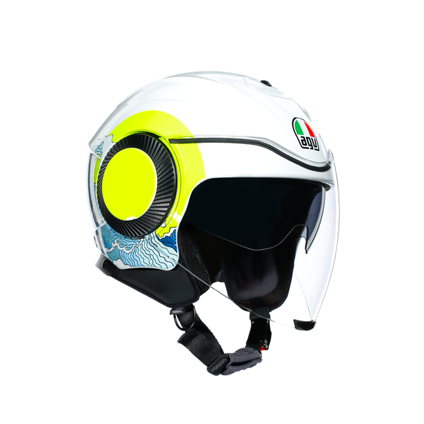 ORBYT E2205 MULTI - SUNSET WHITE/YELLOW FLUO - Casques