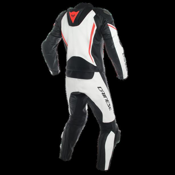 ASSEN 2 PCS SUIT WHITE/BLACK/FLUO-RED- Two Piece Suits
