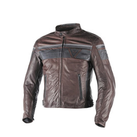 BLACKJACK LEATHER JACKET DARK BROWN/BLACK/BLACK- Leather