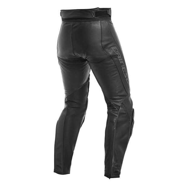 ASSEN LEATHER PANTS  BLACK/ANTHRACITE- Leder