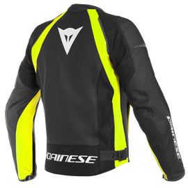 NEXUS LEATHER JACKET BLACK/BLACK/FLUO-YELLOW- Giacche