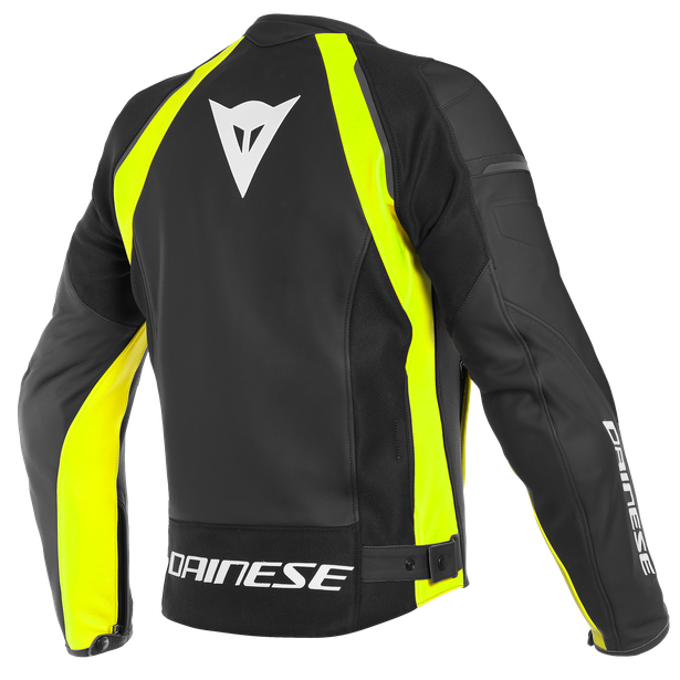 NEXUS LEATHER JACKET BLACK/BLACK/FLUO-YELLOW- Leather