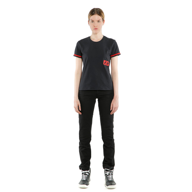 PADDOCK LADY T-SHIRT  BLACK/LAVA-RED- undefined