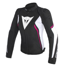 AVRO D2 TEX LADY JACKET BLACK/WHITE/FUXIA- Tessuto