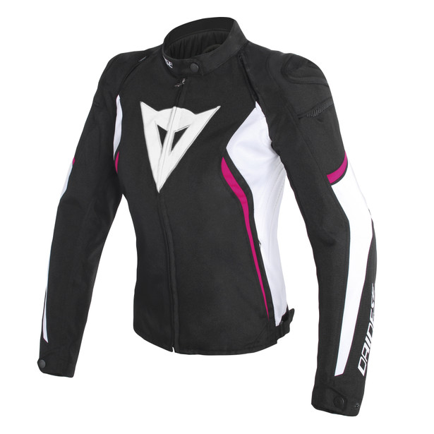 AVRO D2 TEX LADY JACKET BLACK/WHITE/FUXIA- Tissus