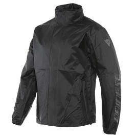 VR46 RAIN JACKET BLACK/FLUO-YELLOW