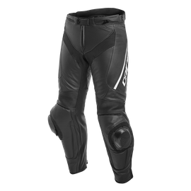 DELTA 3 PERF. LEATHER PANTS BLACK/BLACK/WHITE