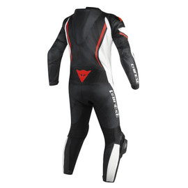 ASSEN 1 PC. PERF. SUIT BLACK/WHITE/RED-FLUO- Lederkombi