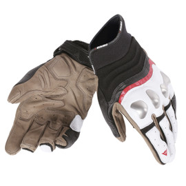 X-RUN GLOVES WHITE/LAVA-RED/BLACK- Gloves