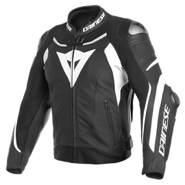 SUPER SPEED 3 LEATHER JACKET BLACK/WHITE/WHITE- Pelle