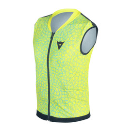 FLEXAGON WAISTCOAT KID VIBRANT-YELLOW/BRIGHT-AQUA- Back