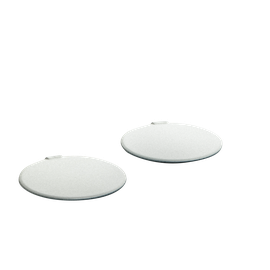 PAINTED SCREW COVERS ORBYT - PEARL WHITE GLOSSY