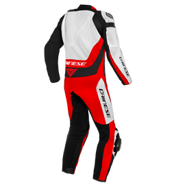 ASSEN 2 1 PC. PERF. LEATHER SUIT WHITE/LAVA-RED/BLACK- Einteiler
