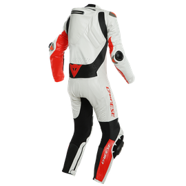MUGELLO RR D-AIR® PERF. SUIT WHITE/FLUO-RED- One Piece Suits