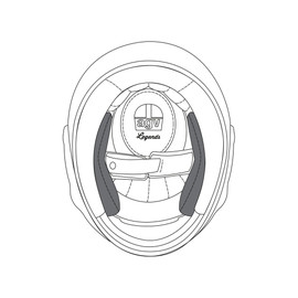 AGV CHEEK PADS X3000 (ML) - PREMIUM BLACK - Cheek Pads