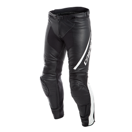 ASSEN LEATHER PANTS  BLACK/WHITE